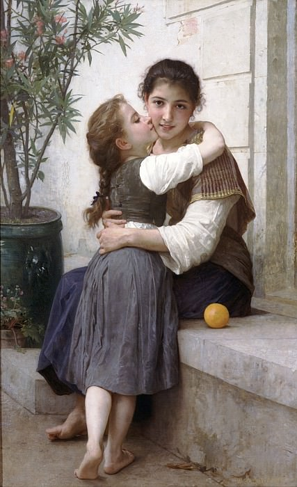 A Little Coaxing. Adolphe William Bouguereau