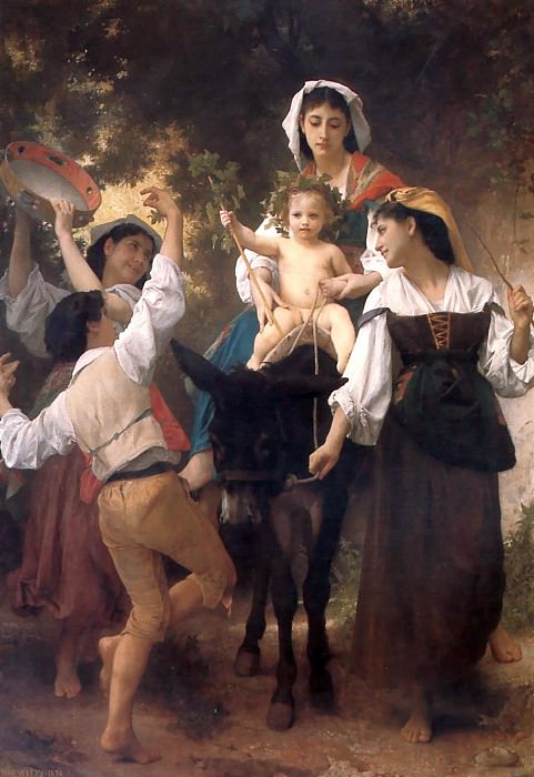 The Return from the Harvest. Adolphe William Bouguereau