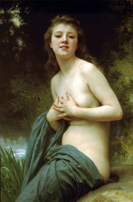 Spring Breeze. Adolphe William Bouguereau