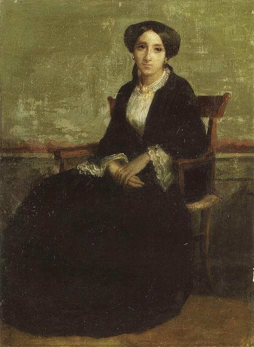A Portrait of Genevieve Bouguereau. Adolphe William Bouguereau