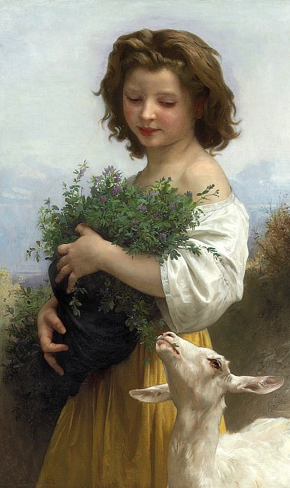 A Little Esmeralda. Adolphe William Bouguereau