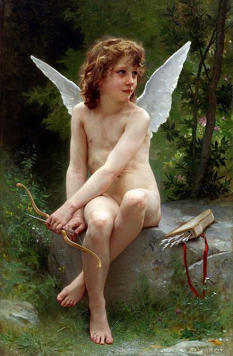 Амур, высматривающий жертву. Адольф Уильям Бугро