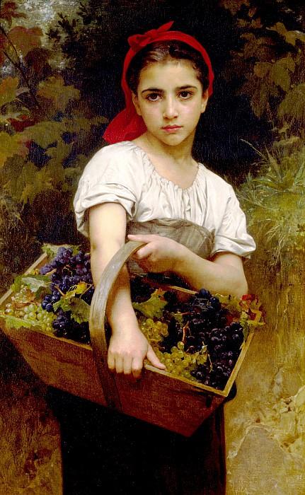 Grape Picker. Adolphe William Bouguereau