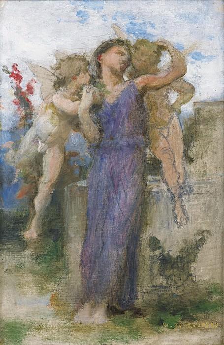 TENDRES PROPOS (study). Adolphe William Bouguereau