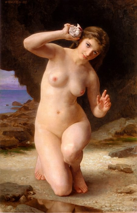 Woman with Seashell. Adolphe William Bouguereau