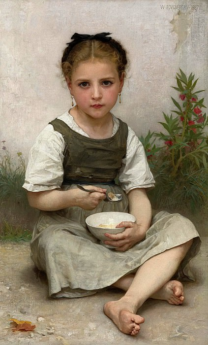 The morning breakfast. Adolphe William Bouguereau