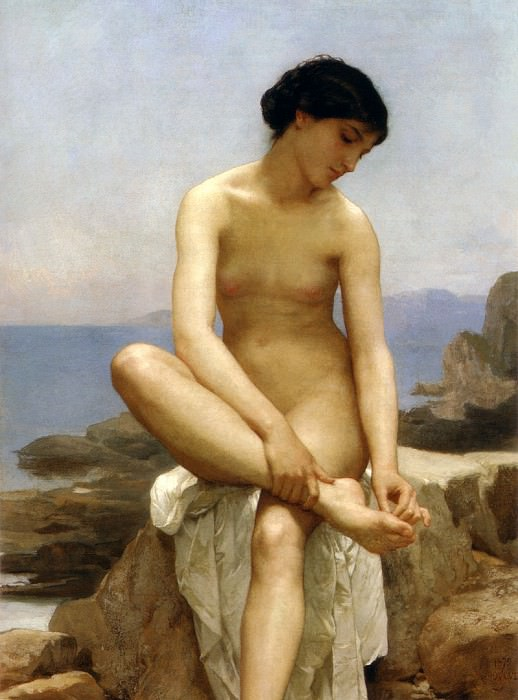 The Bather. Adolphe William Bouguereau