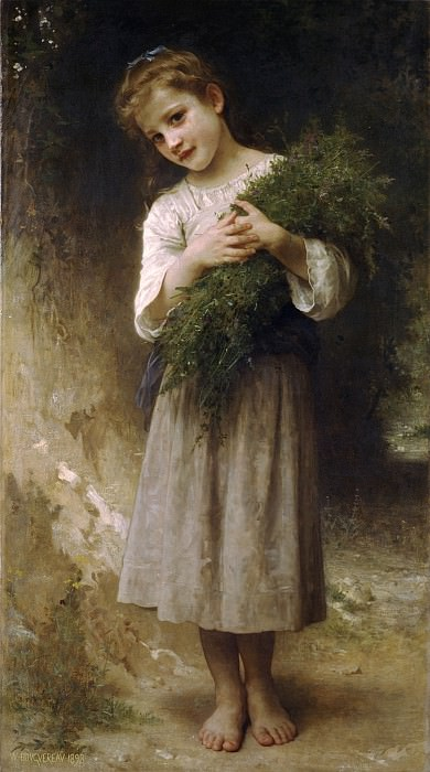 Returned from the fields. Adolphe William Bouguereau