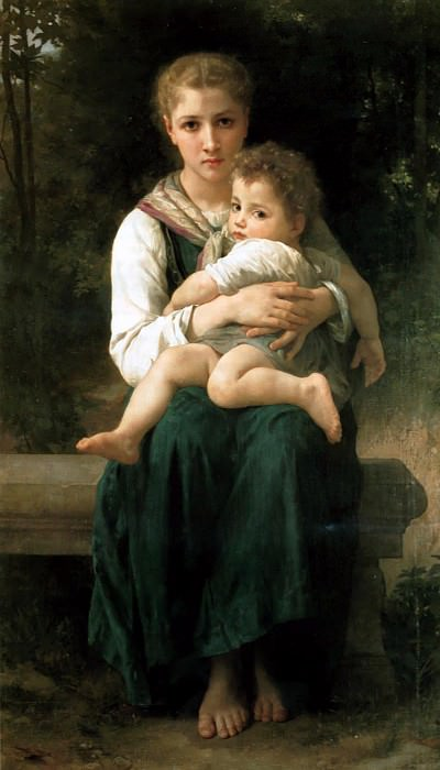 Brother and Sister. Adolphe William Bouguereau