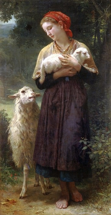 The Shepherdess. Adolphe William Bouguereau