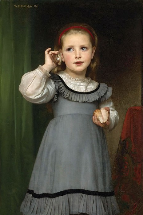 THE SOUND OF THE SEA. Adolphe William Bouguereau