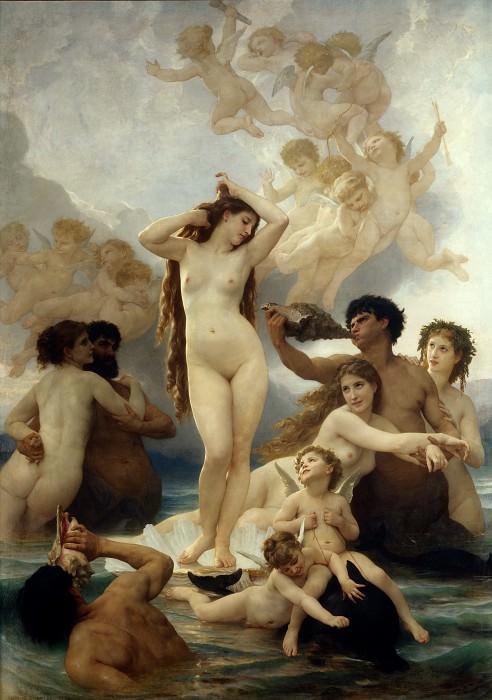 Birth of Venus. Adolphe William Bouguereau