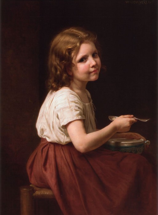 Soup. Adolphe William Bouguereau