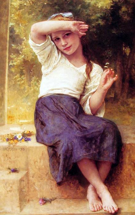 daisy. Adolphe William Bouguereau