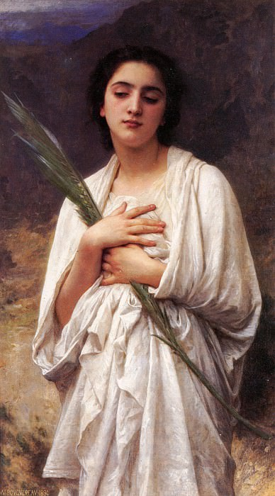 The Palm Leaf. Adolphe William Bouguereau