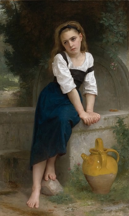 An orphan at the source. Adolphe William Bouguereau