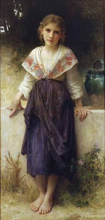 A moment of rest. Adolphe William Bouguereau
