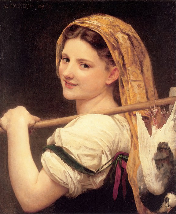 Returned from the market. Adolphe William Bouguereau