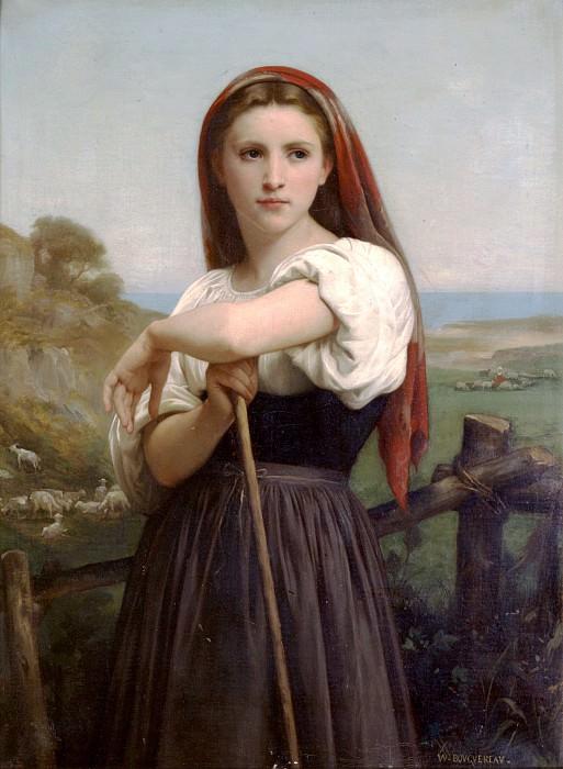 Young shepherdess. Adolphe William Bouguereau