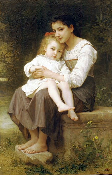 The eldest sister. Adolphe William Bouguereau
