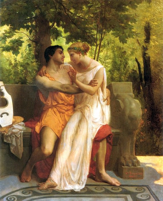 The idyll. Adolphe William Bouguereau