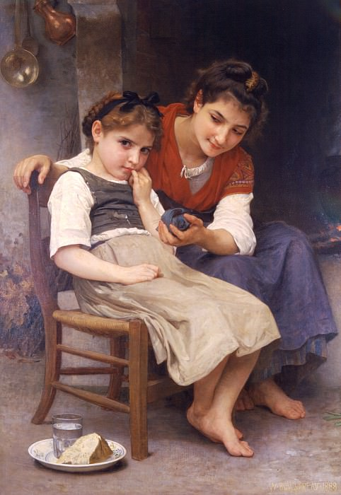 Petite boudeuse. Adolphe William Bouguereau