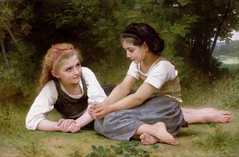 The Nut Gatherers. Adolphe William Bouguereau