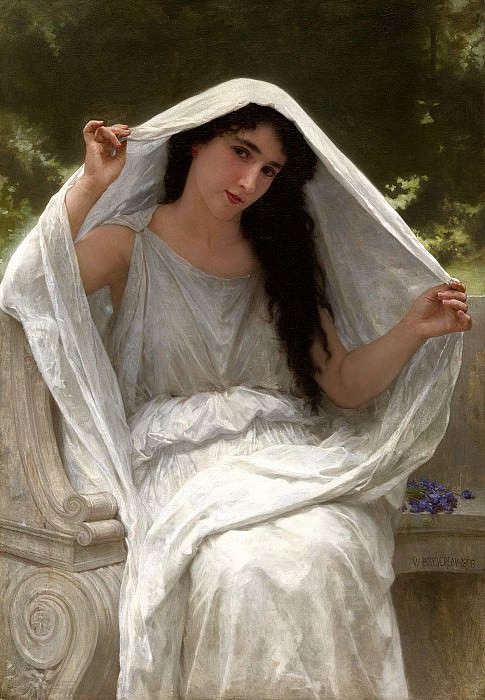 The Veil. Adolphe William Bouguereau
