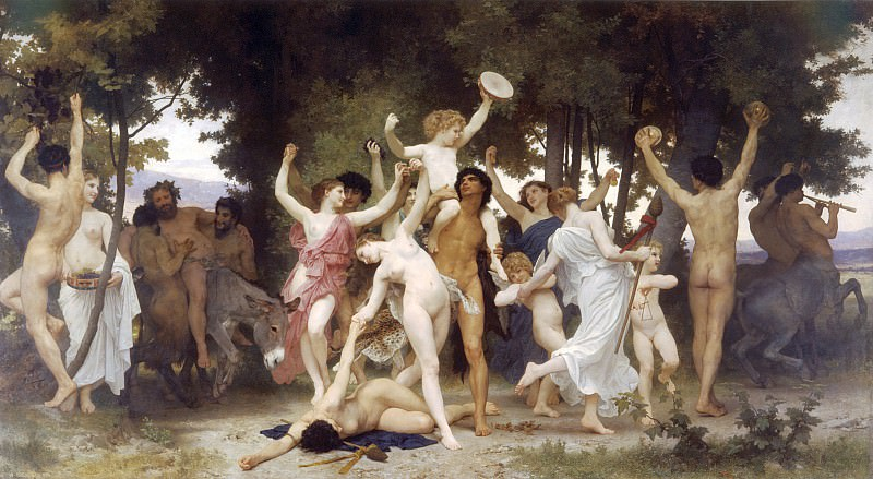 Youth of Bacchus. Adolphe William Bouguereau