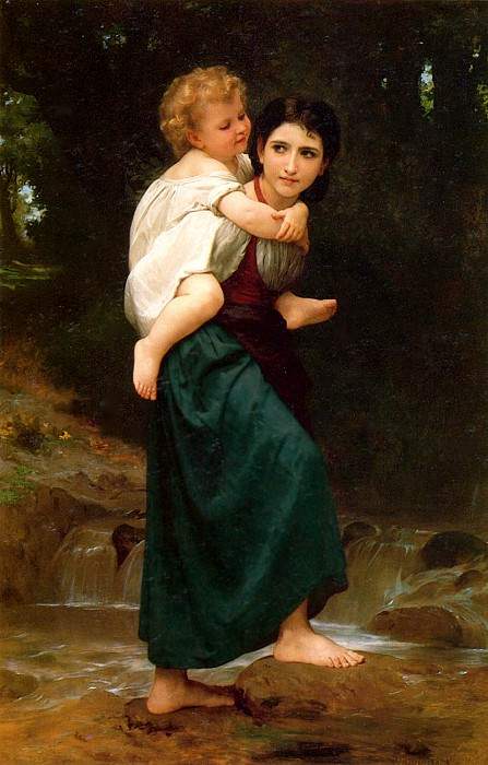 The Crossing of the Ford. Adolphe William Bouguereau