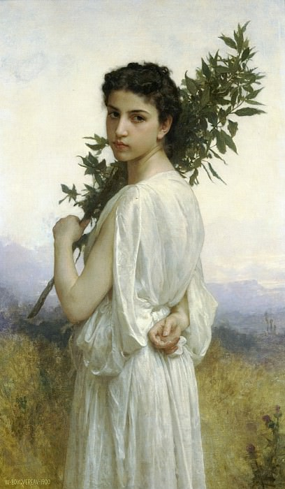 Laurel Branch. Adolphe William Bouguereau