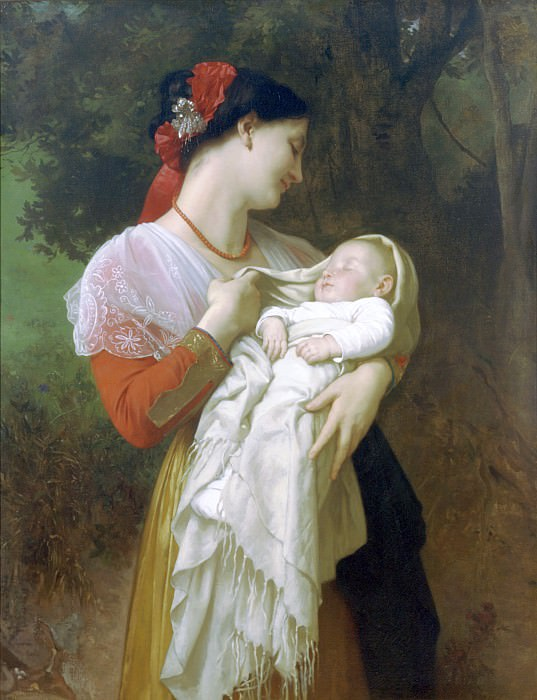 Admiration Maternelle. Adolphe William Bouguereau