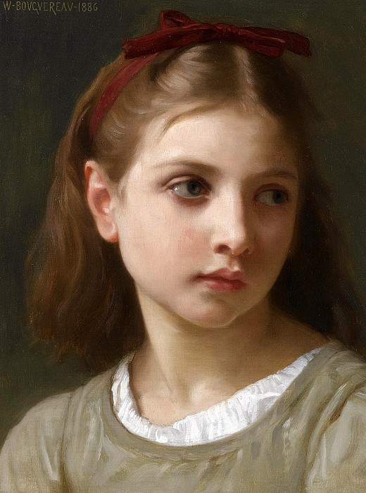A Little Girl. Adolphe William Bouguereau