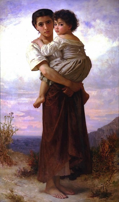 Young Bohemian. Adolphe William Bouguereau