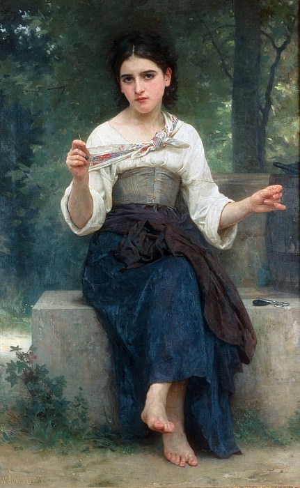 Sewing girl. Adolphe William Bouguereau