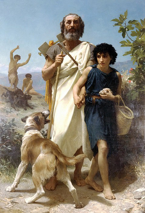 Homer and his guide. Adolphe William Bouguereau