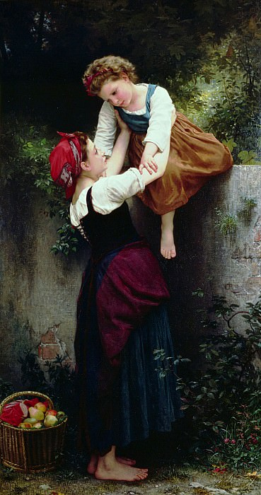 Petites maraudeuses. Adolphe William Bouguereau