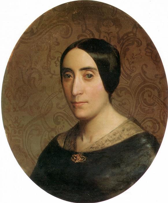 A Portrait of Amelina Dufaud Bouguereau. Adolphe William Bouguereau