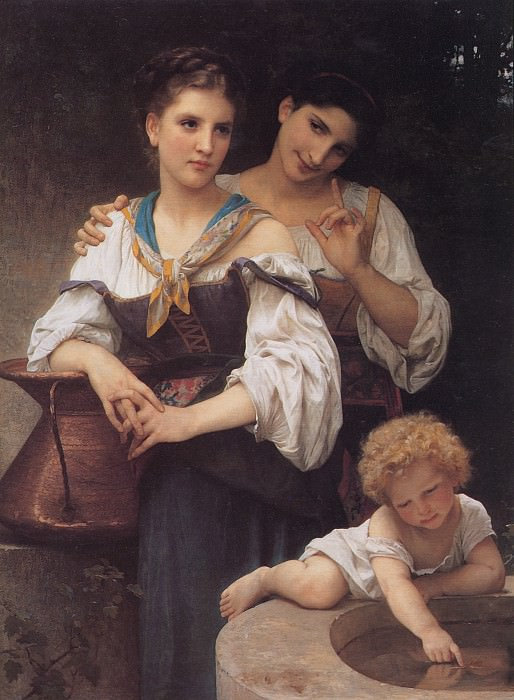 The Secret. Adolphe William Bouguereau