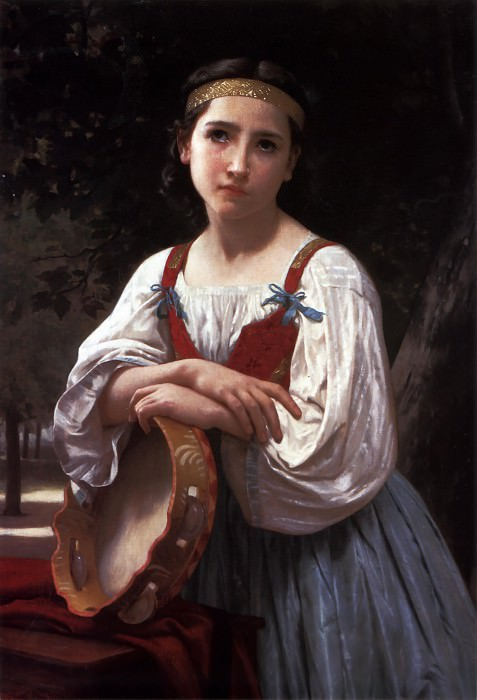 Bohemienne au Tambour de Basque. Adolphe William Bouguereau