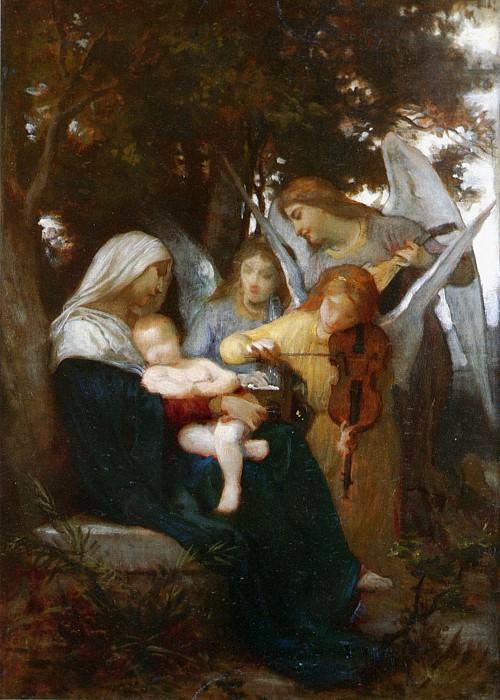 Мадонна с Младенцем и музыцирующими ангелами (Песня ангелов) (эскиз). Адольф Уильям Бугро