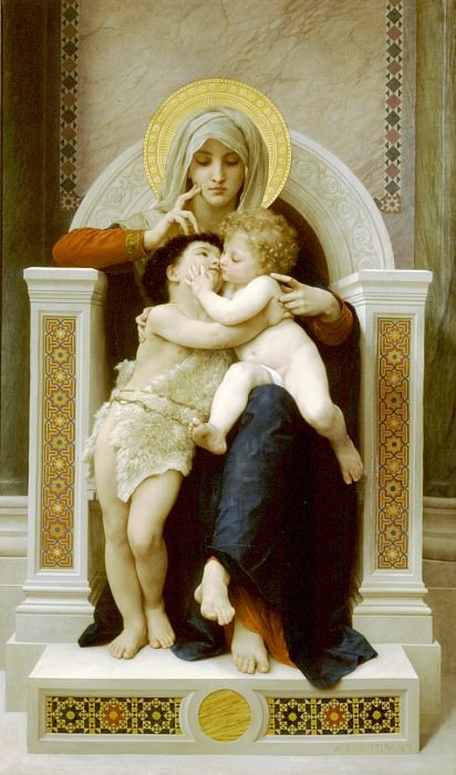 The Virgin and Child Jesus and St. John the Baptist. Adolphe William Bouguereau