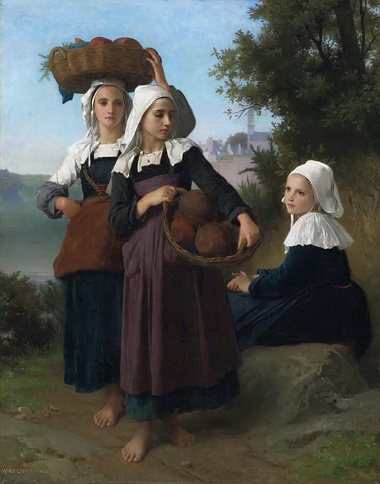 Girl returning from the market. Adolphe William Bouguereau