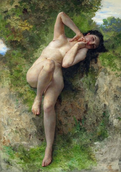 A dryad. Adolphe William Bouguereau