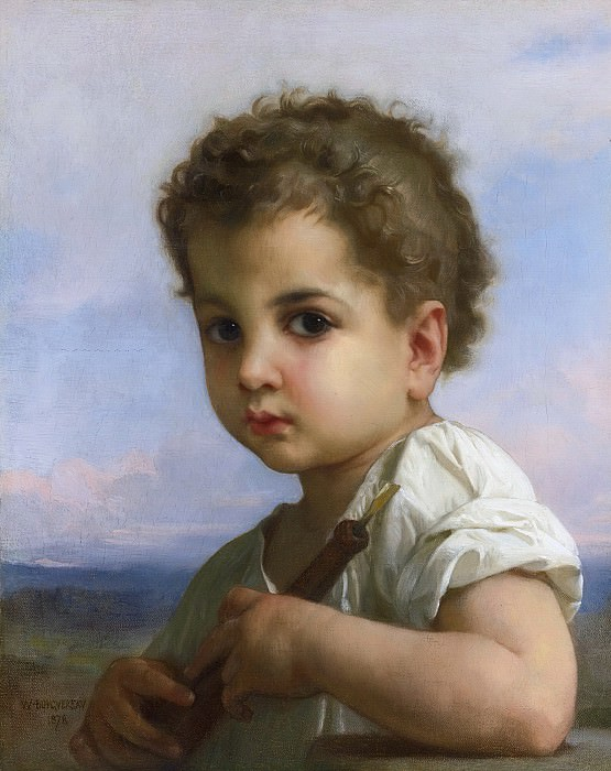 FLUTE PLAYER. Adolphe William Bouguereau