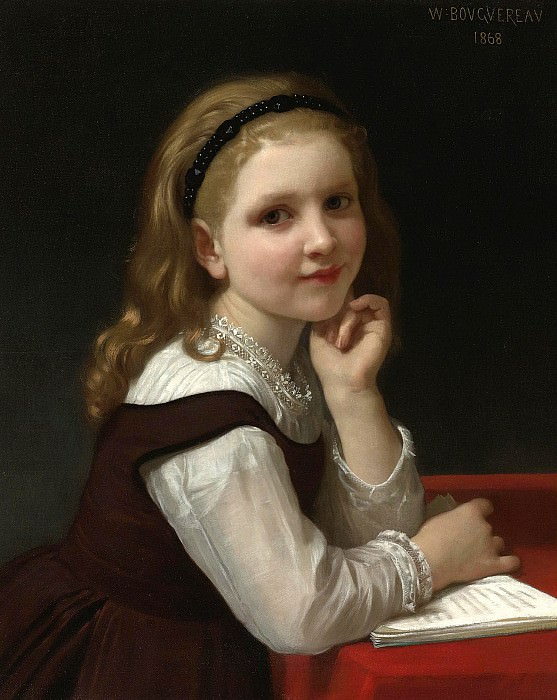 The young schoolgirl. Adolphe William Bouguereau