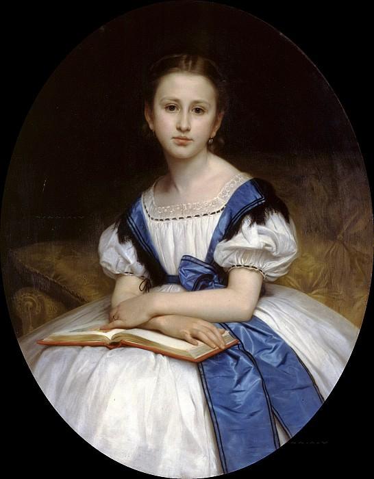 Portrait Mlle Brissac. Adolphe William Bouguereau