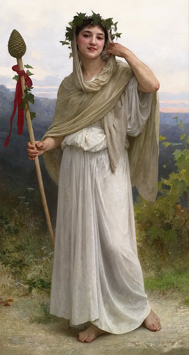Bacchante. Adolphe William Bouguereau