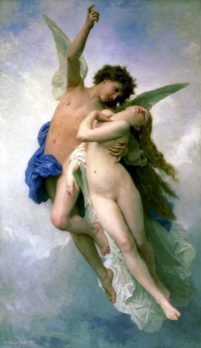 Cupid and Psyche. Adolphe William Bouguereau