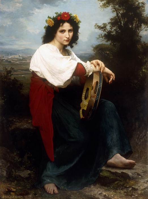 Italian woman with a tambourine. Adolphe William Bouguereau